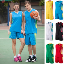 2017 New Men basketball jerseys Boys breathable blank sports kit wear basketball short shirts full set uniforms suits clothes