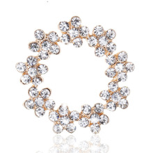 DIY Round metal Rhinestone button for wedding embellishment headband
