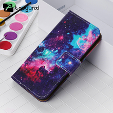 TAOYUNXI Cross Pattern Painted Leather Cases For Apple iPhone 7 Plus iPhone7 Plus Pro Cases Housing Card Wallet Phone Bags Skins(China)