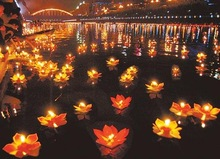 New 20 pcs Paper Lotus Flower Floating Lantern Wishing Lamp Party Decoration