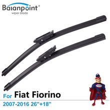 "Wiper Blades for Fiat Fiorino 2007-2016 26""+18"", Set of 2, Best Car Accessories"