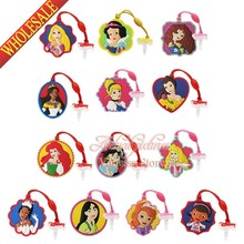 1pcs lovely Sofia Princess PVC Dust Plug Phone Pendants Mobile phone accessories Phone Strap ropes travel bag decortion