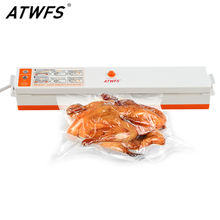 ATWFS Vacuum Sealer Home Best Food Vacuum Packer Sealing Machine 220V/110V Including 15pcs Bags Free(China)