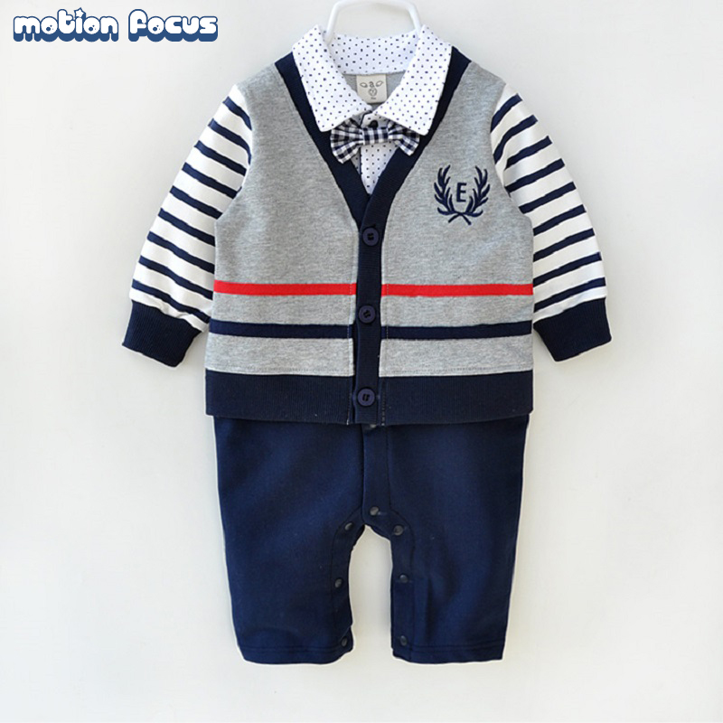Newborn baby clothes fashion 100% cotton high quality infant formal dress mamelucos para bebes gentleman outfit baby boy romper<br><br>Aliexpress