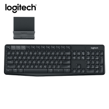 Logitech K375S Wireless Bluetooth Keyboard Gaming Lap top PC Gamer Keybord Ergonomics For Tablet Phone Computer Keyboard Stent