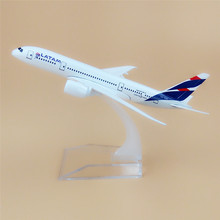 16cm Alloy Metal Chile Air LATAM Airlines Boeing 787 B787 Airways Plane Model Airplane Model w Stand Aircraft(China)