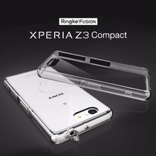 100% Original Ringke Fusion Cases for Sony Xperia Z3 Compact - Premium Clear Hard Back Cover Cases for Xperia Z3 Compact(China)