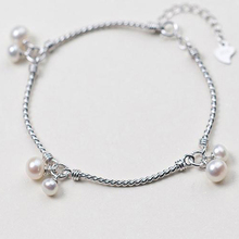 2017 new fashion bracelets 925 sterling-silver-jewelry new design with freshwater perals pendant bracelets for women model BT009