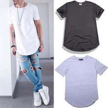 White Long T Shirt Men Summer Tops Tees Hip hop T-shirt Men Hiphop Short Sleeve Streetwear Long Casual Tee Shirts DP806764
