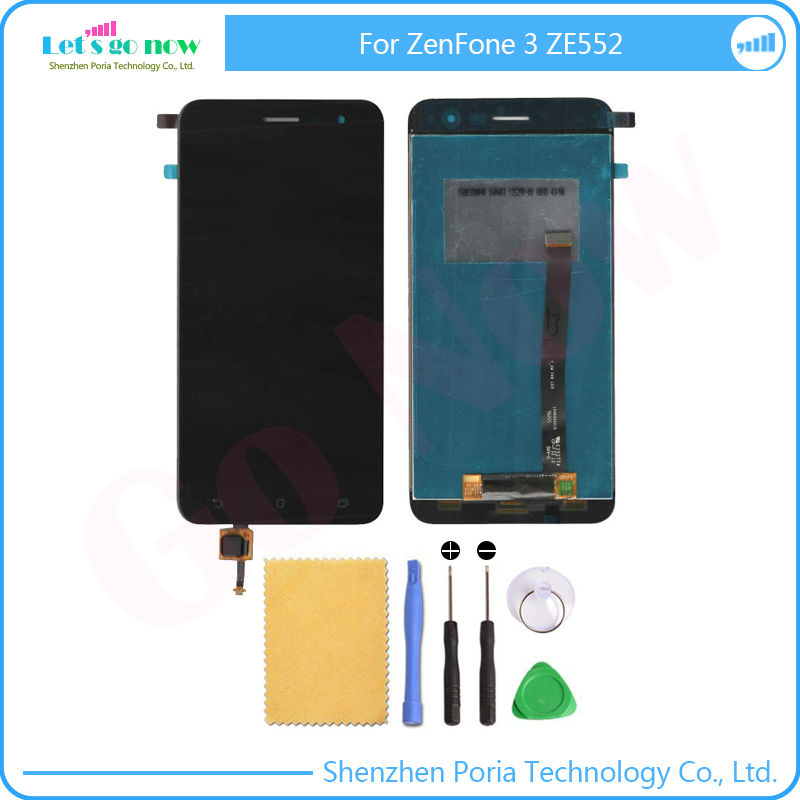 5.5 Black LCD+TP For Asus ZenFone 3 ZE552KL LCD Display+Touch Screen Digitizer Assembly Phone Replace Parts With Free Tools<br><br>Aliexpress