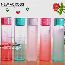 JUH 1Pcs Green/Pink/White Optional Fashion Glass Water Bottle Sports Leisure Bottle Daily Drinking Riding Customized In Bulk