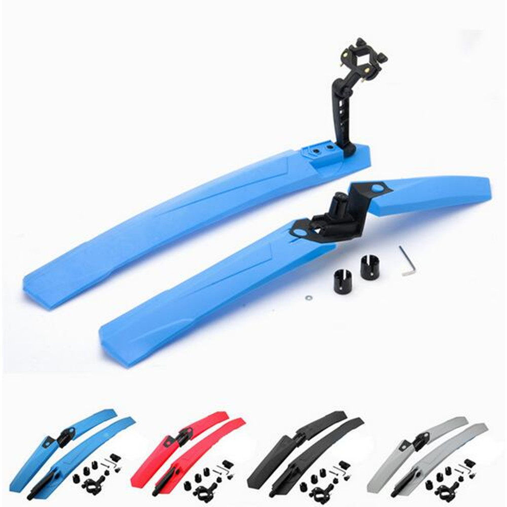 ROBESBON MTB Mudguard Bike Front Rear Quick Release Bike Fender Bicycle Cycling Fender Wings Stand Rack Mudguard RSB057