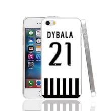 23204 Famous football team jersey dybala 21 number Cover cell phone Case for iPhone 4 4S 5 5S SE 5C 6 6S 7 Plus
