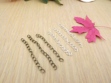 Jewelry finding & components parts Necklace rope end fittings 4-5 cm diy   tail chain 20pieces/lot TP2138