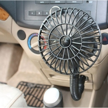 Hot Sale Portable Car Vehicle Cooling Cool Air Fan Car Mini Fan Cooling Fan Black Free Shipping