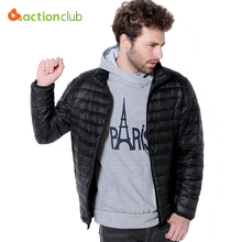 ACTIONCLUB 2017 Men Spring Coat Goose Down Jacket Ultra Light Thermal Fashion Travel Pocketable Portable Thin Duck Coats