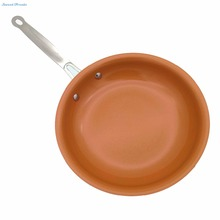 Non-stick Copper Frying Pan with Ceramic Coating and Induction Cooking,Oven & Dishwasher safe 10 Inches 12Inch