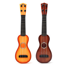 Acoustic 4 Strings Plastic Musical Instrument Toy Ukulele Guitar for Kids Children Gift Music Educational Toy 38cm Length