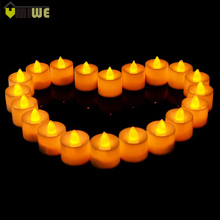 24 Pcs Flameless Ficker Plastic Electronic Candle Battery LED Tea Lights Candles For Christmas Party Birthday Wedding Decoration