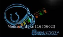 LD463- Indianapolis Colts Helmet Coors LED Neon Light Sign(China)