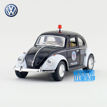 Free Shipping/KiNSMART Toy/Diecast Model/1:32 Scale/1967 Volkswagen Classical Police/Pull Back Car/Collection/Gift For Children