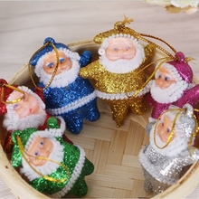Santa Claus Christmas Tree Hanging Decoration Ornaments Creative Plastic Xmas Home Door Supplies Decor - BeautyHome Store store