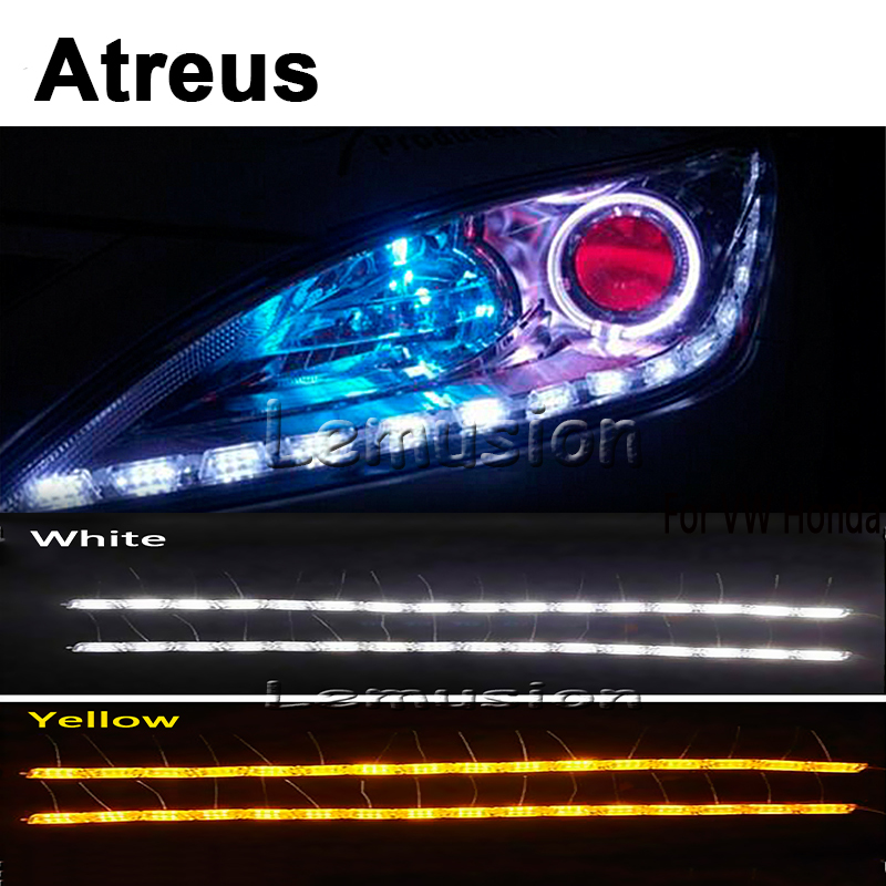 Atreus Car LED Crystal water lamp DRL Daytime running lights For Mitsubishi ASX Lancer 10 9 Pajero I200 Nissan Chevrolet cruze<br>
