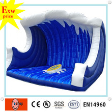 2016 hot selling pvc tarpaulin china manufacturer commercial inflatable surfboard /surf simulator mattress for  sale