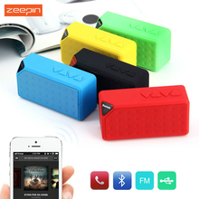 Zeepin Mini Bluetooth Speaker X3 TF USB FM Radio Wireless Portable Music Sound Box Subwoofer Loudspeakers Mic for iOS Android