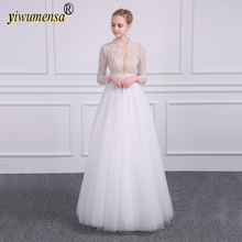 Buy A177 Real Photo Sexy Wedding Dress 2018 Pearls Crystal Beaded Lace Bridal Gown Factory Custom Made wedding dresses mariage gowns for $159.20 in AliExpress store