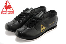 Le Coq Sportif Women's Running Shoes,High Quality Cow Leather Upper Le Coq Sportif Women Athletic Shoes Sneakers Black/Golden 5
