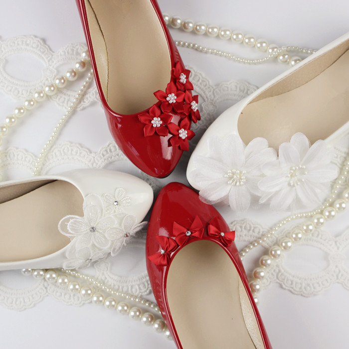 2016 white flat female shoes bridal wedding shoes the red wedding lace pearl bridesmaid shoes flat heel low-heeled shoes<br><br>Aliexpress