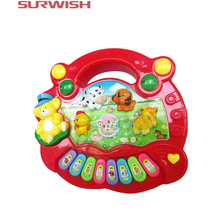 Surwish Baby Kids Child Animal Farm Keyboard Electrical Piano Musical Educational Toy - Color Random