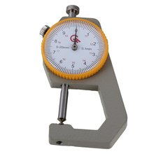 0-20mm Tip Head Compact Pocket Accuracy 0.1mm Round Dial Thickness Gauge Gage Measurement Tool With Case