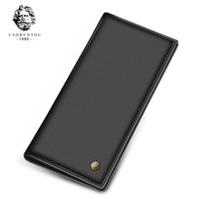 2017 New Arrival Laorentou Long Style Men Wallet Soft Leather With Card Slot For Business Men Wallet Leather Clutch Bags(China)