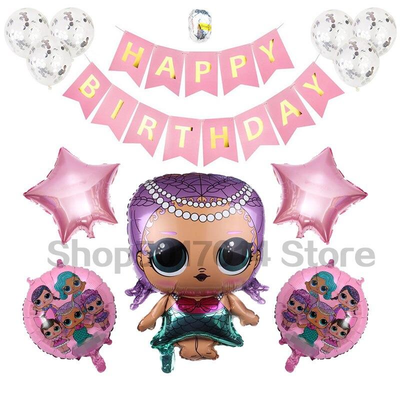 Newest LOL poupée Ballons Ballon Aluminium Hélium Décoration Anniversaire