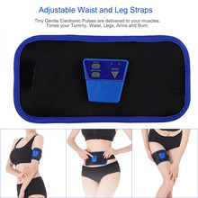 2017 New Cheapest Exercise Toning Belt Slim Fit  AB G Electronic Body Muscle Arm leg Waist Abdominal Massage