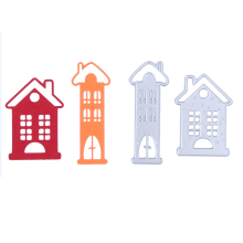Fairy Tale House Pattern DIY Metal Cutting Die Embroidery Carbon Steel Stencil Scrapbook Craft Cutting Template Card