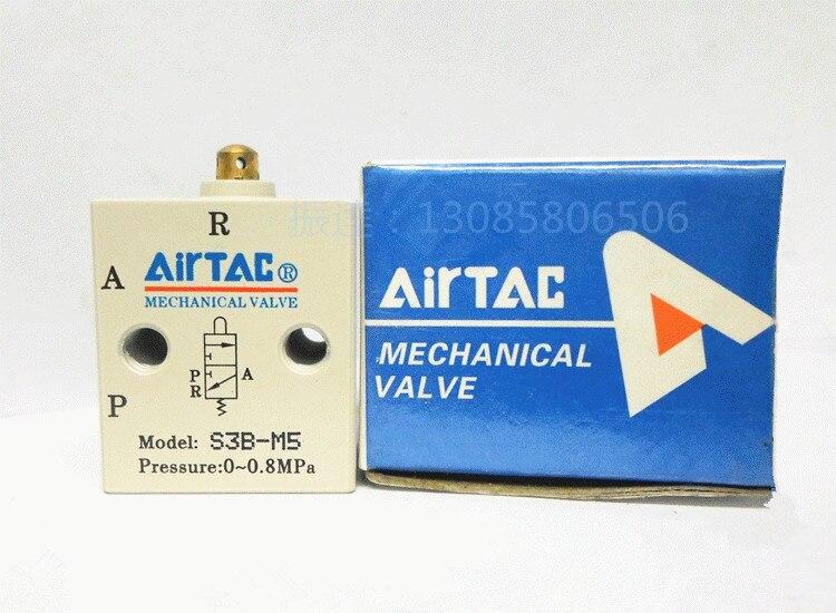 Supply AirTac genuine original mechanical valve S3B-M5.<br>