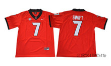 Nike 2017 Georgia Bulldogs D'Andre Swift #7 Limited College Football Jersey - Black Boxing Jersey Basketballly Jersey(China)