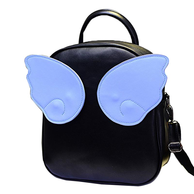 2017 Hot Children Angel Wing Backpack Fancy Student School Bags Leather Girl Backpack Angel Wings Rucksack Bolsos mochila XA499C<br><br>Aliexpress