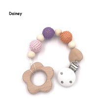 Buy Baby Pacifier Clip Chain Woody Plastic Holder Soother Teething Pacifier Wooden Nipple Infant Feeding BNZ21 for $5.49 in AliExpress store