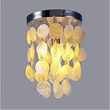 Modern Shell Flush Mount  LED Ceiling Lights For Living Room Lamp Home Lighting Fixtures,E14*1  Bulb Included,AC 90V~260V<br><br>Aliexpress