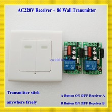 digital Remote Control Switch AC220V 2 Receiver  Wall Transmitter Wireless Power Switch 315MHZ Radio Controlled Switch Relay