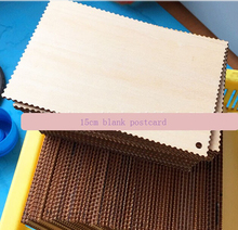 wood gift blank postcard your own name card plywood post card