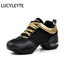 Hot Sports Feature Soft Outsole Breath Dance Shoes LUCYLEYTE Sneakers For Woman Practice Shoes Modern Dance Jazz Shoes Sneakers(China)