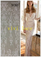 FFW9091 sexy fashion show embroidery french tulle mesh lace for stage show  wedding evening ab7d1eb40cb3