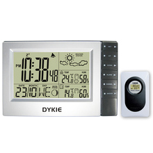 DYKIE Weather Station Alarm Clock Indoor Outdoor Electronic Clock Temperature Humidity Meter Comfort Indication Weather Forecast