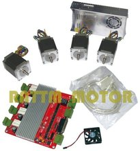 4 NEMA23 270 oz-in stepper motor 3.0A+ 4 axis CNC controller kit Motor Driver board(China)