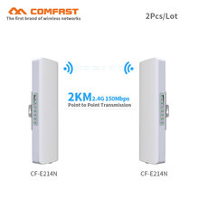 2pcs COMFAST CPE/Network Bridge/Repeater/WIFI signal booster Amplifier point to point transmission 2KM antenna wifi base station